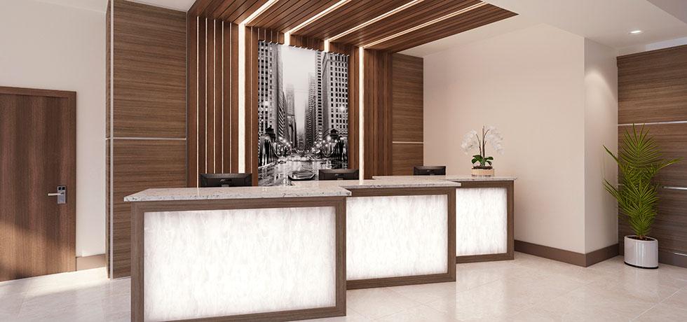 application hotel reception front desk
