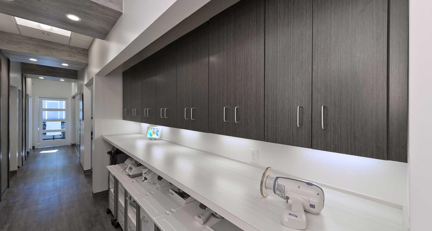 NJ Laser Dentistry | Cart Storage | Overhead Cabinets