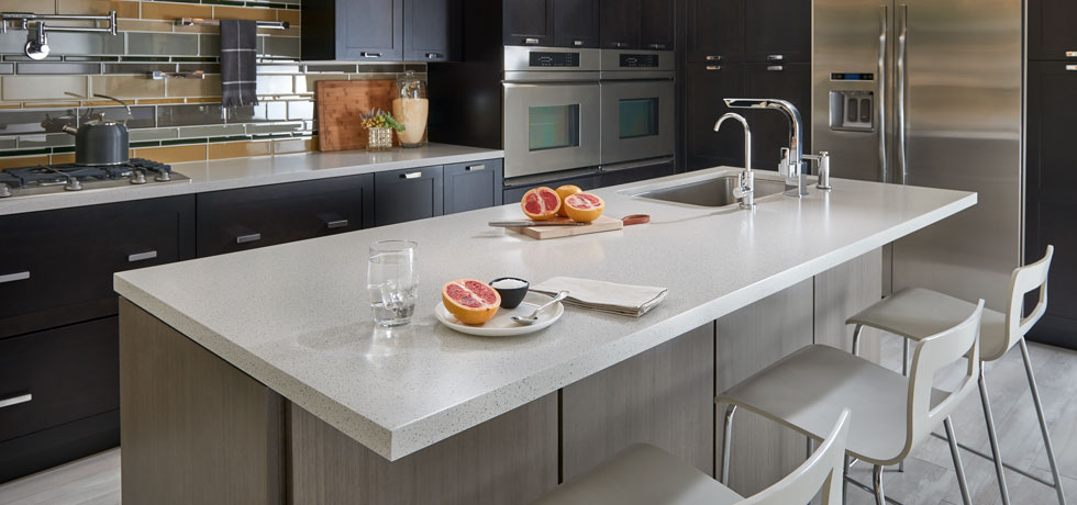 Application Dusk Ice Solid Surface Kitchen The Look