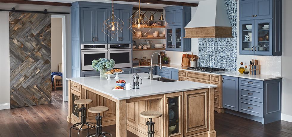 European-Inspired Quartz Kitchen