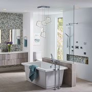 Large, Luxurious Walk-In Shower | Solid Surface | Morning Ice