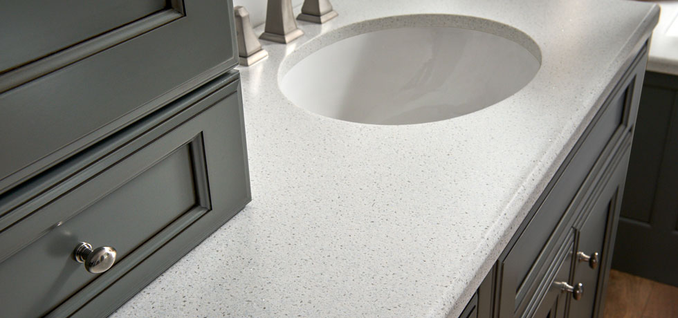 Application Morning Ice Solid Surface Bath Countertop