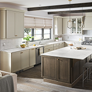 Neutral Kitchens with Countertop Pizzazz