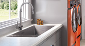 White Carrara Utility Room