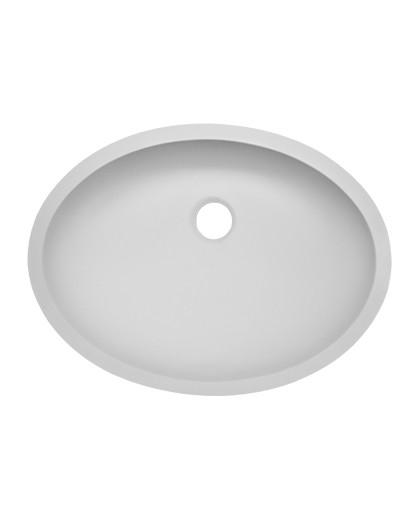 Small Oval Vanity Bowl w/overflow AV1410 Sinks Countertops