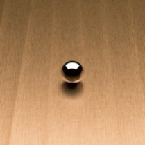 Ribboned Satin Brushed Aged Gold L6447 Decorative Metal Countertops